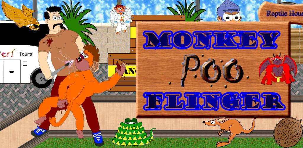 Monkey Poo Flinger Banner